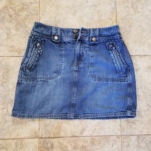 Sonoma Skirts - Sonoma Good Condition Jean Mini Skirt Zippers